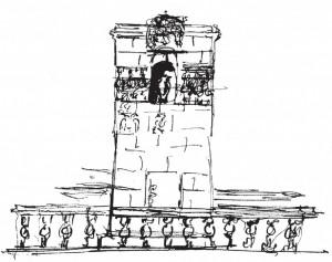Эскизный проект печи для храма-усыпальницы в усадьбе Осташево