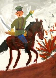 Князь Олег в бою