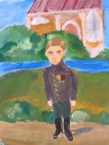 Князь Олег на прогулке